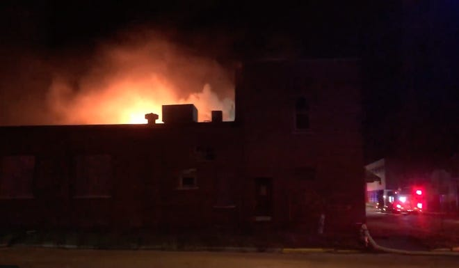 The Galesburg Fire Department battled a fire at Tucker's Printing Co., 193 N. Cherry St., late Sunday night into Monday morning.