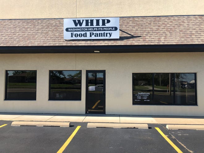 The WHIP (Washington Helps Its People) food pantry at 1253 Peoria St., has been serving nearly 300 families each month since March.