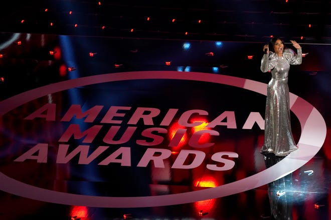Taraji P. Henson hosted the American Music Awards on Sunday at the Microsoft Theater in Los Angeles.