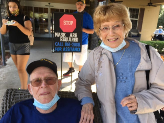 Curtis Hadley with friend Mary Brandt. [SPECIAL TO THE STAR-BANNER]