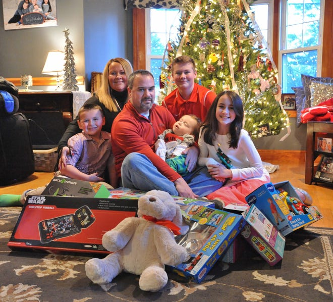 The Richards family of Weymouth in 2016, during Cooper's last Christmas and the first annual toy drive.