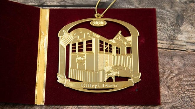 This year's annual Portsmouth Rotary Club Christmas ornament depicts Gilley's Diner.