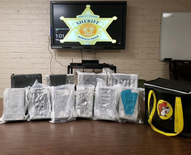 Agents seized 10 kilos of cocaine, which has an estimated street value of over $500,000, according to Iberville Parish Sheriff Brett Stassi.