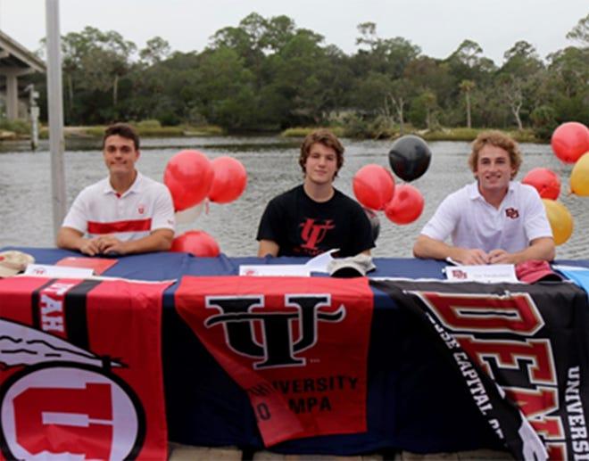 Ponte Vedra lacrosse athletes Freddie DiMarzo, Andrew Worman and Joe Taraboletti.