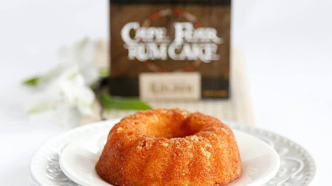 Gingerbread and egg nog are some of the flavors being offered by Cape Fear Rum Cake this season.
