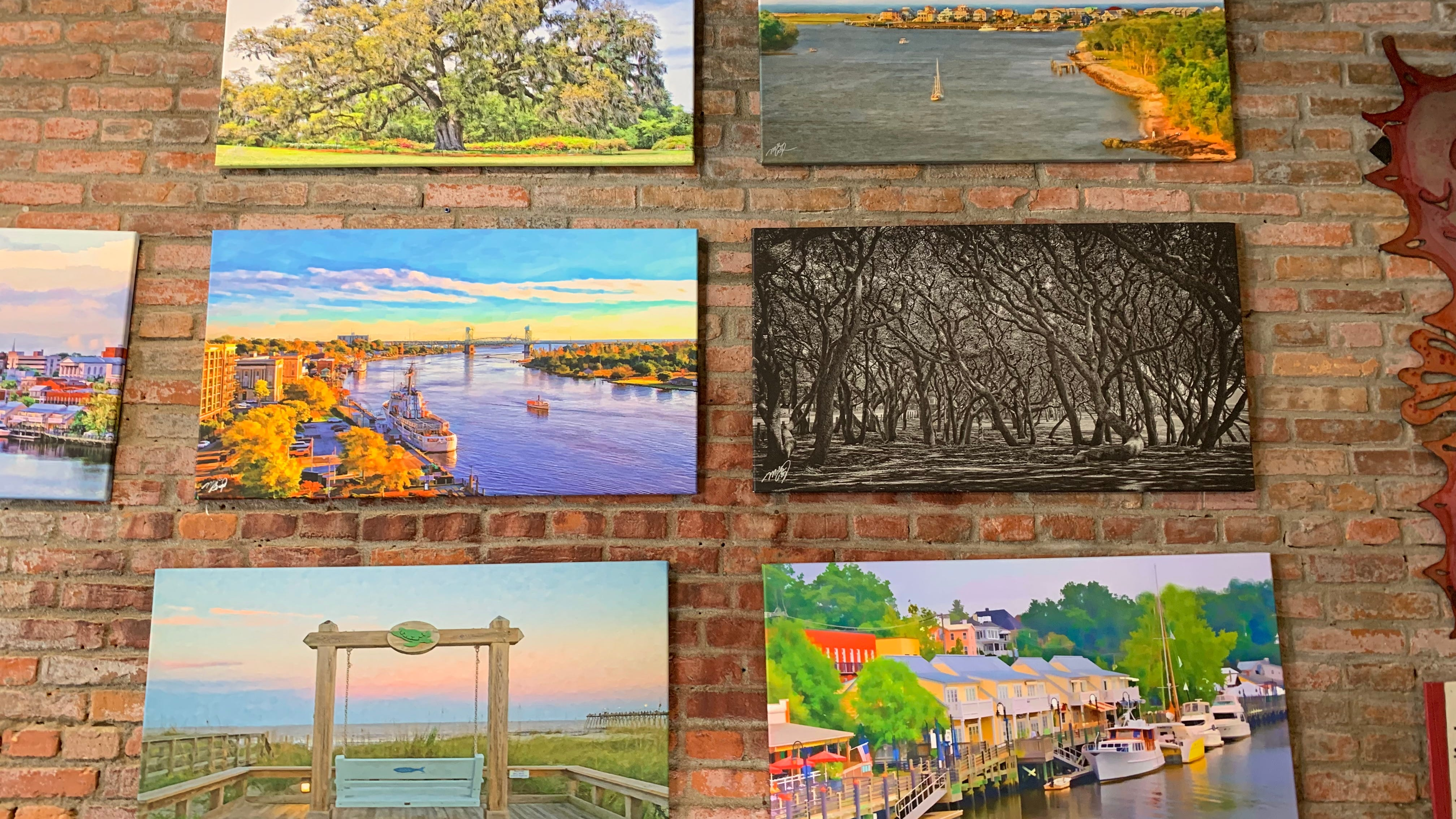 The Bryand Gallery offers artwork of local scenes. Created by Mike Bryand, the gallery offers products from more than 50 local and North Carolina artists.