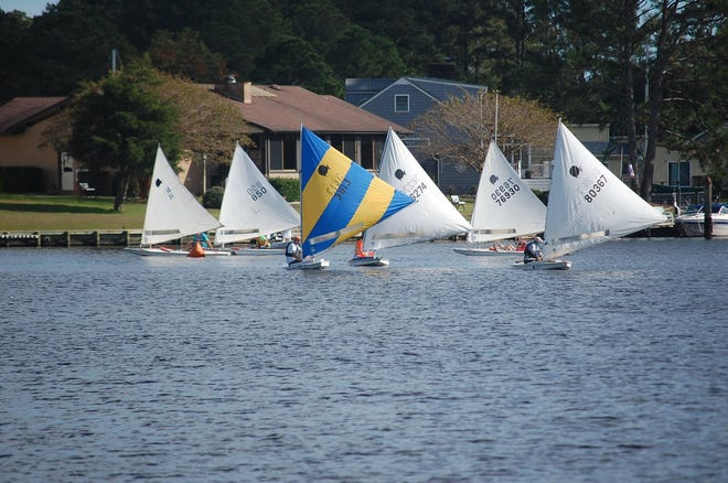 The Sunfish Fall racing made for a pretty sight in the Inner Harbour this fall. [CONTRIBUTED PHOTO]