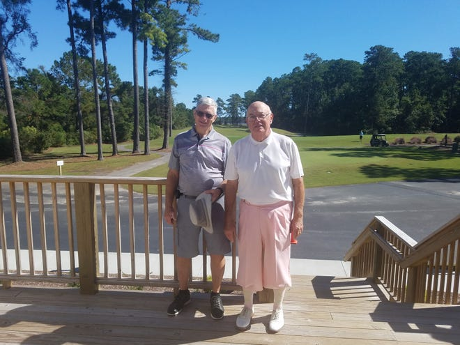 Ryder Cup Gold Flight winners were Ron Biggs and Bob Gillham. [CONTRIBUTED PHOTO]