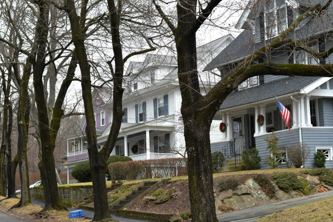 If Worcester adopts the lowest residential tax rate possible, $16.21 per $1,000 valuation, it would mean an average tax increase of $125 for homeowners. These houses are on Chesterfield Road in the Tatnuck neighborhood.