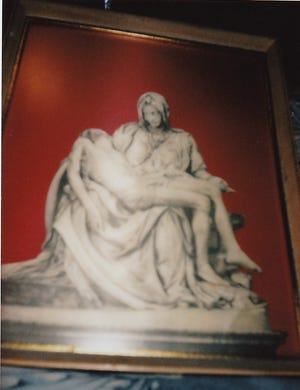 There have been renditions of the Virgin Mary and Jesus pieta composition since the Middle Ages in both painting and sculpture.