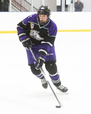 """Junior defenseman GianniPalombaro is among the top returnees for PHA. While the Prowlers got out to a slow start, coach  Bob McElheney said the players """"are growing immensely, week in and week out"""" thanks to their hard work."""