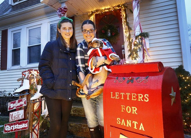 A doorway decorated by Lilah Read 16, her mother Becky  and various family members won the top prize in the town-wide door decorating contest last year  [File Photo]