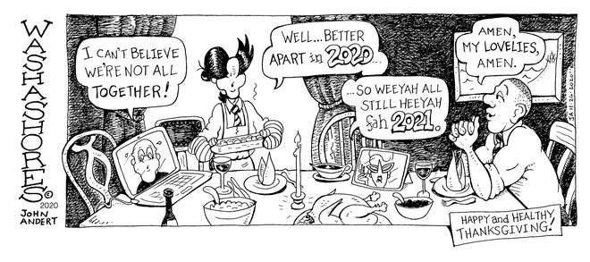 Washashores Cartoon by John Andert for 11.26.20 for Provincetown Banner