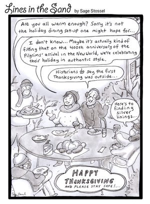 Sage Stossel Cartoon for Provincetown Banner edition 11.26.20