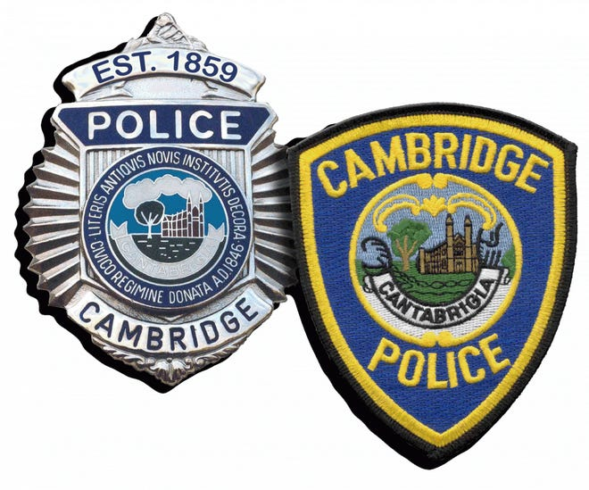 Cambridge police are searching for two bank robbery suspects.