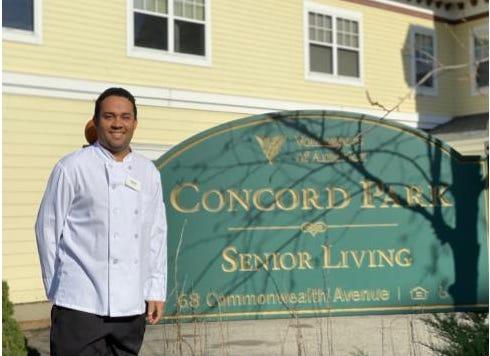 Concord Park sous chef Emerson Decosta.