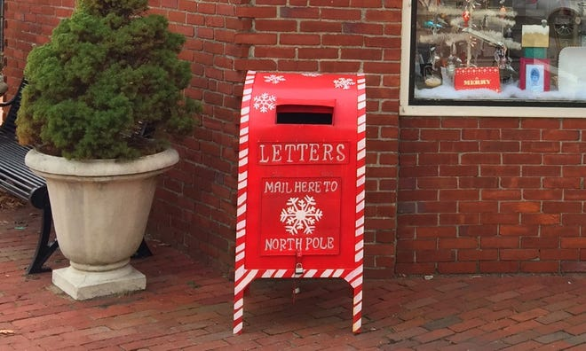 Kids can send letters to Santa by putting them in the mailbox outside La Petite Maison in downtown Hingham- and might even hear back.