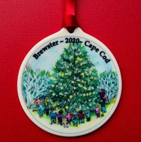 The 2020 Brewster holiday ornament was designed by Brewster artist June Chartier. Read the brief for details.