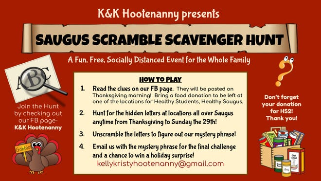 K&K Hootenanny will present the Saugus Scramble Scavenger Hunt