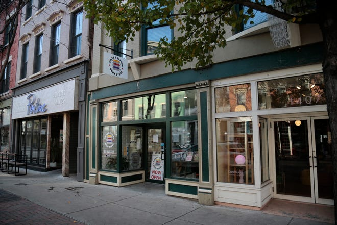 The store front of the Smith & Hannon Book Store on Vine Street in the Over-the-Rhine neighborhood of Cincinnati on Monday, Nov. 23, 2020.