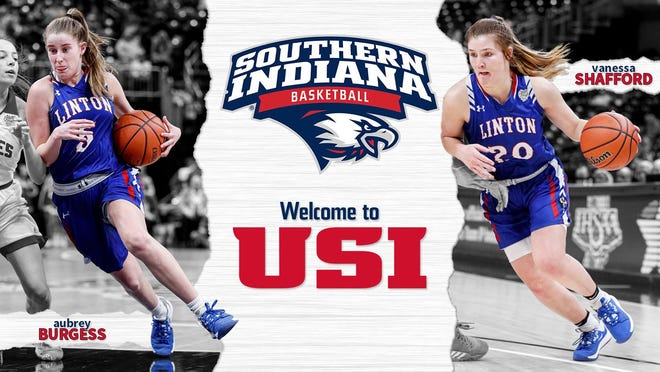The Linton girls basketball duo of Aubrey Burgess and Vanessa Shafford will be joining the USI women's basketball team next season.