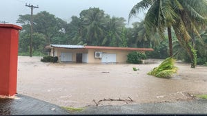 A flash flood watch is in effect for Guam, Rota, Tinian and Saipan.