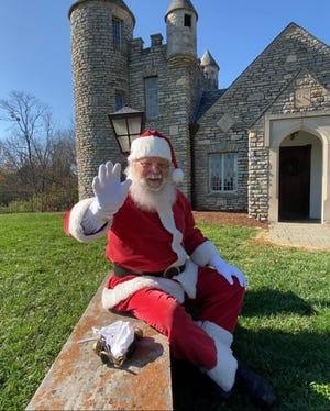 Santa will arrive at Yuletide at Yew Dell Botanical Gardens
