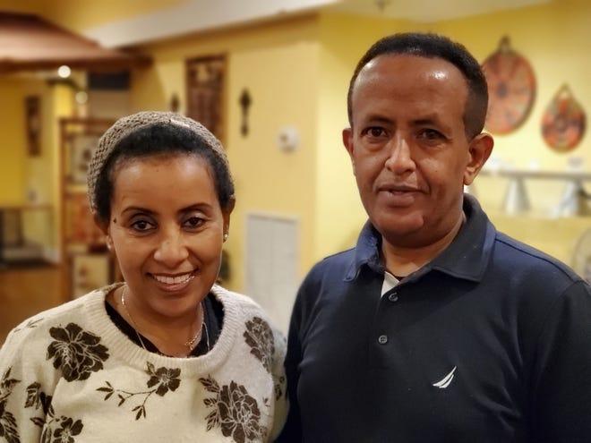 Solomon Bekele and Mulu Habtesilssie run Alem Ethiopian Village.