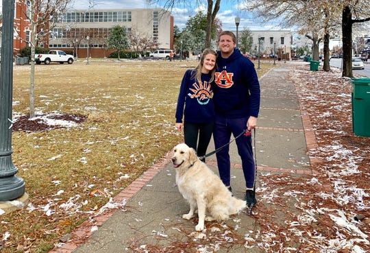 Madison and Andrew Brooks in Auburn after the 2019 Iron Bowl.