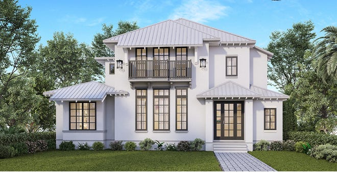 Waterside Builders is constructing a two-story, four-bedroom, six bath, Olde Florida-inspired home which features 4,211 square feet under air and a total of 5,339 square feet.