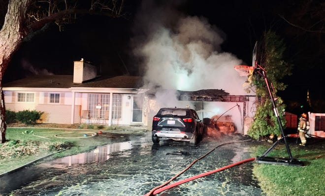 Farmington Hills firefighters battled a Kendallwood Drive fire early Saturday morning. They said they were able to save most of the home's interior.