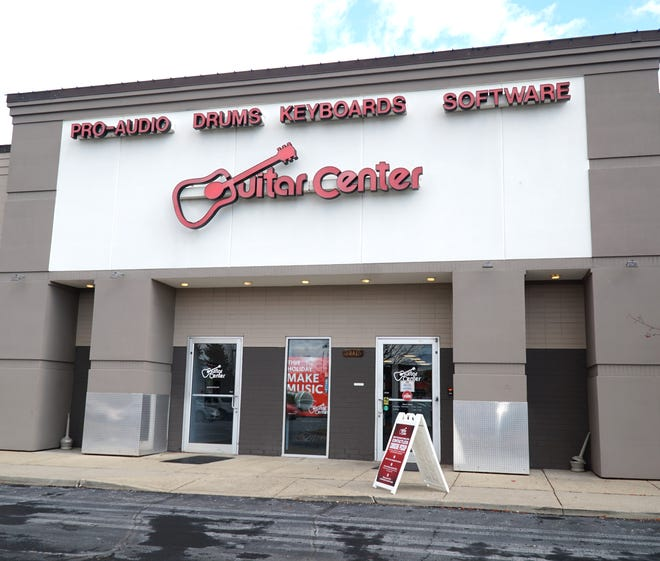 Guitar Center, which has a location in Canton, announced it was filing for Ch. 11 bankruptcy protection.
