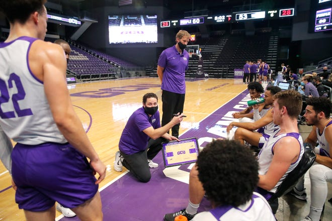 Bryce Drew gets ready to start his era at Grand Canyon University on Wednesday when the season opens at home against Grambling. Photo by GCU Athletics.