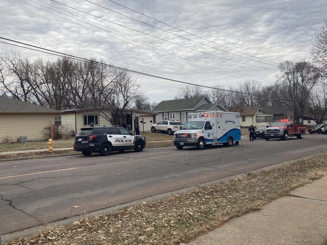 Police on scene at Sixth Street and St. Paul Avenue