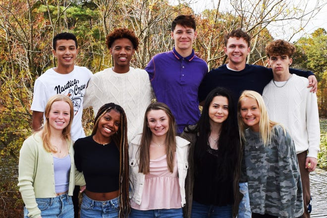 Millville High School's Homecoming contestants are: For King (back row, from left) Elias Rivera, Omarion Cephas, Carter Sloan, Nicholas Buonadonna and Blake Ramos; and for Queen (front row, from left) Carly Lee, Johnay Ball, Emily Meischke, Ozlem Akilli, and Casey Etter.