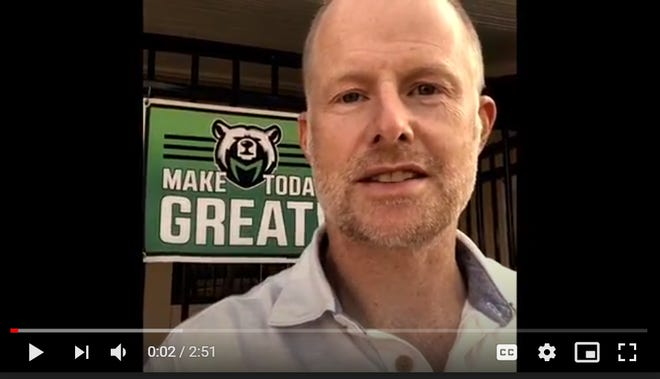 Nathan Bahrenburg, assistant principal at Mineral King Elementary School, in a video he filmed.