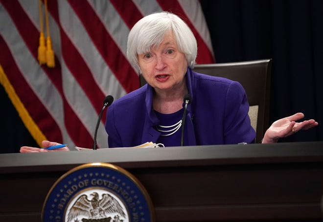 Janet Yellen, former chair of the Federal Reserve, speaks during a news conference December 13, 2017 in Washington, D.C. President-elect Joe Biden picked Yellen to become the first woman to lead the Treasury Department, if she is confirmed.