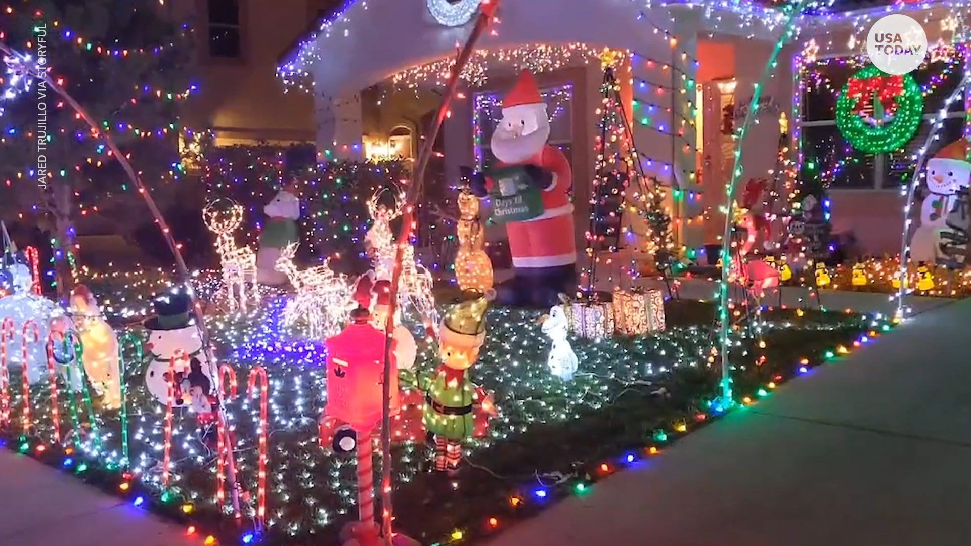 Twinkling home winter wonderland helps make spirits bright in Albuquerque, New Mexico