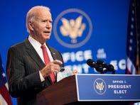 In this Nov. 19, 2020, file photo President-elect Joe Biden speaks at The Queen theater in Wilmington, Delaware.