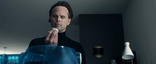 """The Skinny Man (Walton Goggins) looks to assassinate Santa in the action-packed """"Fatman."""""""
