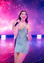 """Dua Lipa, 25, will perform a virtual concert Friday, as part of the American Express """"Unstaged"""" series."""