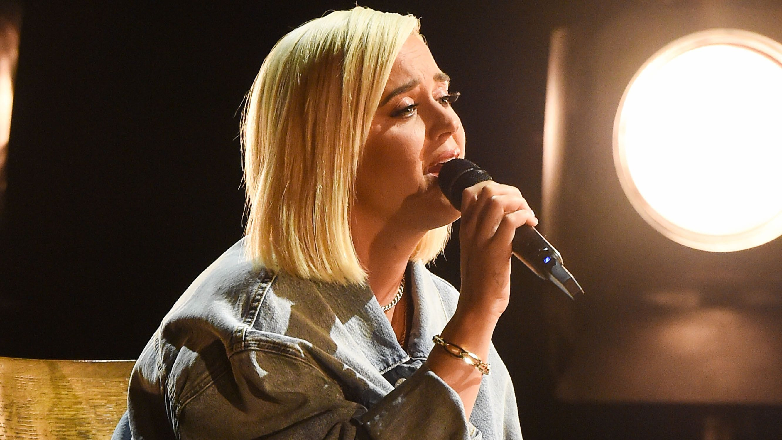 """Katy Perry performed her song """"Only Love"""" with the help of country singer Darius Rucker at Sunday's American Music Awards."""