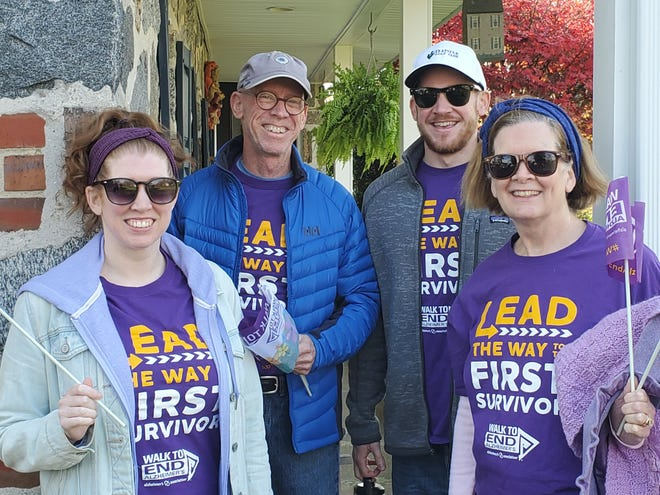 The McInerney family, of Cinnaminson, participates in the Walk to End Alzheimer's on Nov. 14.