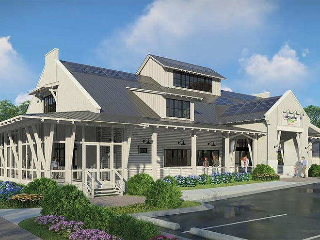 A rendering of Lowcountry Fresh Market & Cafe, a food market that plans to sell locally sourced products and is scheduled to open this spring at Washington Square off Buckwalter Parkway.