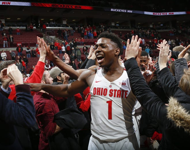 Former Ohio State forward Jae'Sean Tate has overcome injuries and even a natural disaster to land an NBA shot with the Houston Rockets.