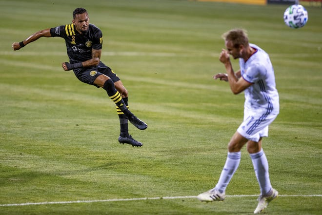 Midfielder Artur, left, is the least-heralded of the Crew's stable of top midfielders, but his development this season has been key in helping Columbus reach the Eastern Conference semifinals.