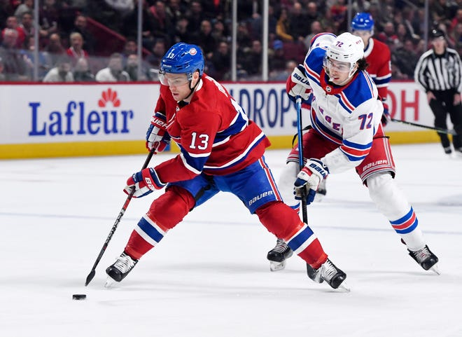 Forward Max Domi (13), shown playing last season with the Canadiens, said several players have spoken highly of Blue Jackets coach John Tortorella.