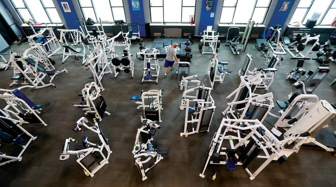 Many gyms, such as Powerhouse Gym Downtown, have impletement a variety of coronavirus control measures to make it safer for people to exercise, including moving equipment 6feet apart. But if people don't feel comfortable going to a fitness center, they can get creative with their workouts at home, says Powerhouse manager Jephthah Lawson.