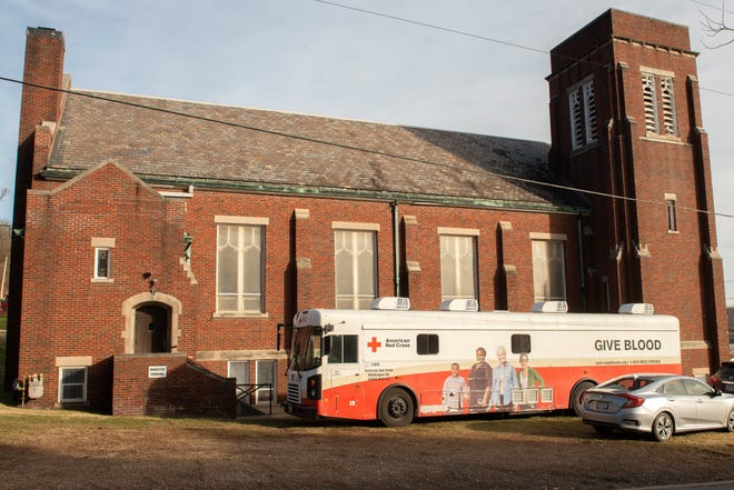 Buffalo Creek Presbyterian Church hosts a Red Cross blood drive. Now that schools are not participating as much as they had prior to the pandemic, the Red Cross is hurting a bit more when it comes to low blood collection