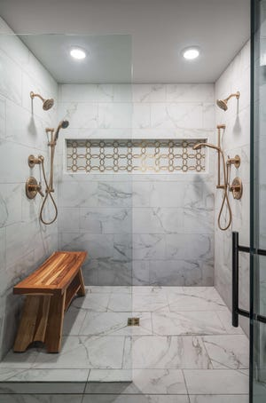If you have a forever house, at least one bathroom should have a roll-in or walk-in shower.